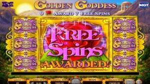 golden goddess free spin slot