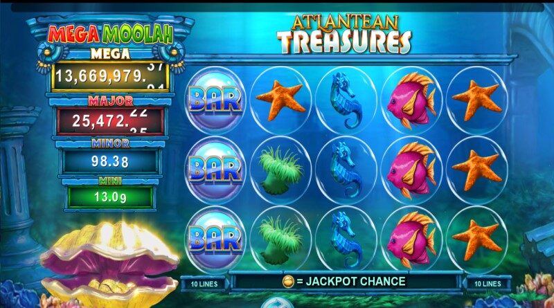 Mega Moolah Atlantean treasures online slot
