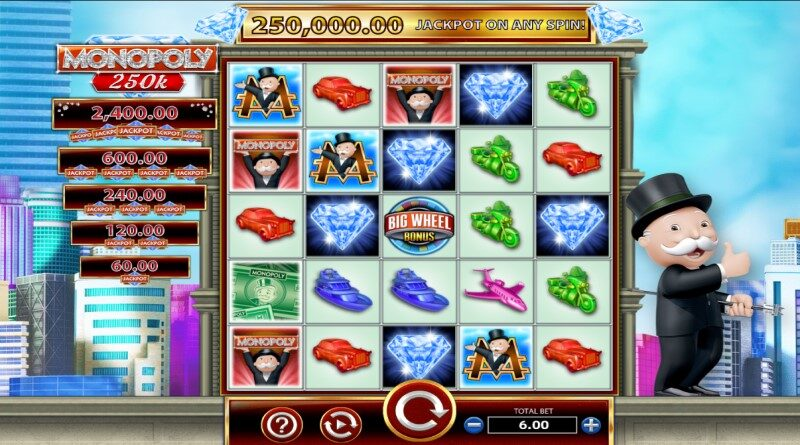 play monopoly 250K slot