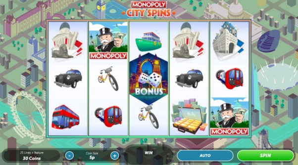 Play Monopoly City Spins