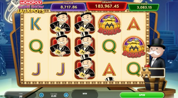 Play Monopoly Gameshow Jackpots