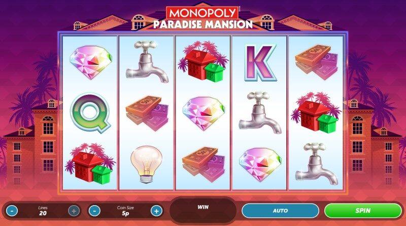 Play Monopoly Paradise Mansion slot
