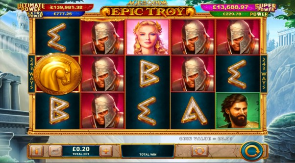 play age of the gods epic troy slot