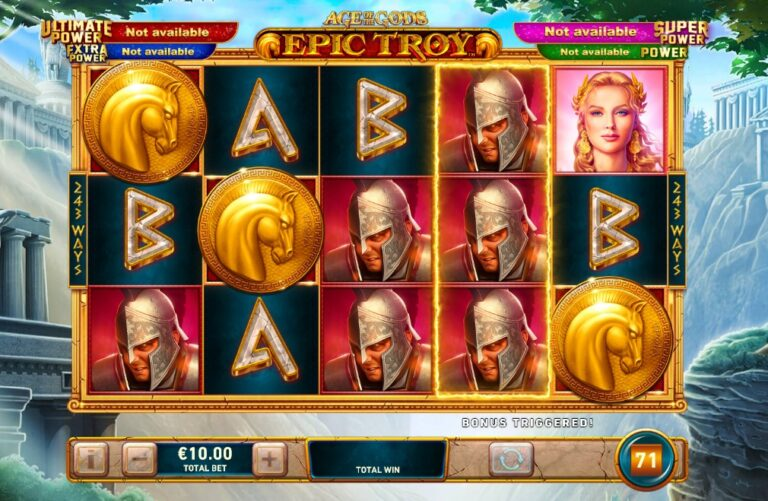 epic troy slot review
