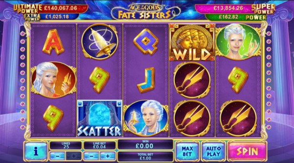 play age of the gods fate sisters slot