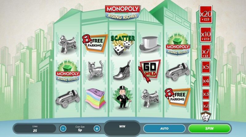Play Monopoly Rising Riches slot