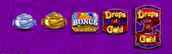 rainbow riches drops of gold review from www.slotzs.com