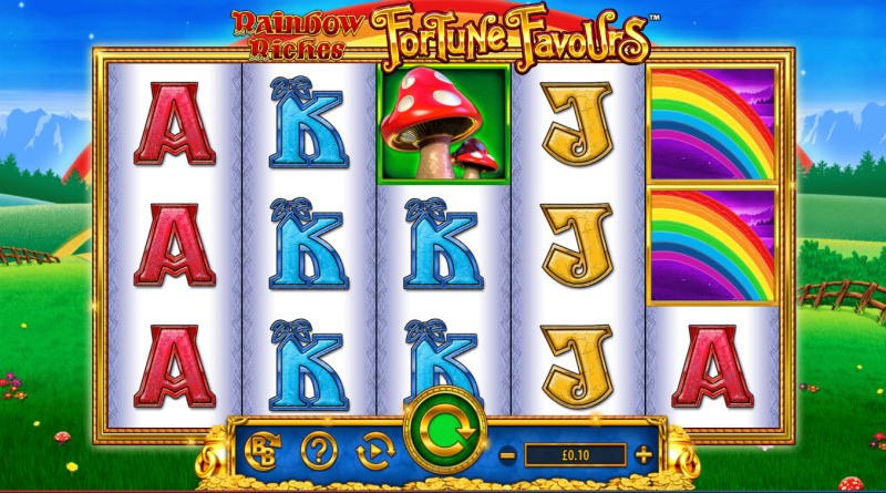 rainbow riches fortune favours review by www.slotzs.com
