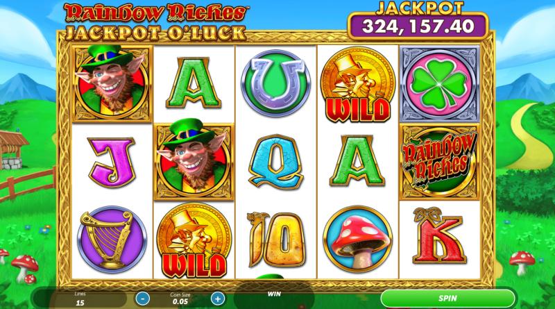 rainbow riches jackpot o luck slot