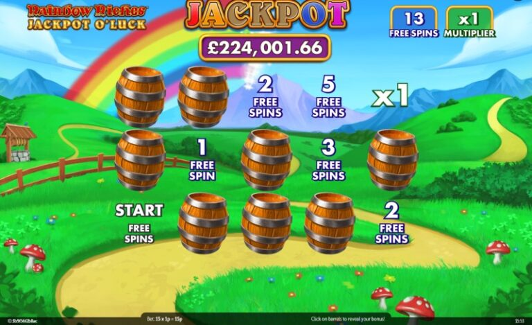 Rainbow Riches Jackpots O Luck review from www.slotzs.com