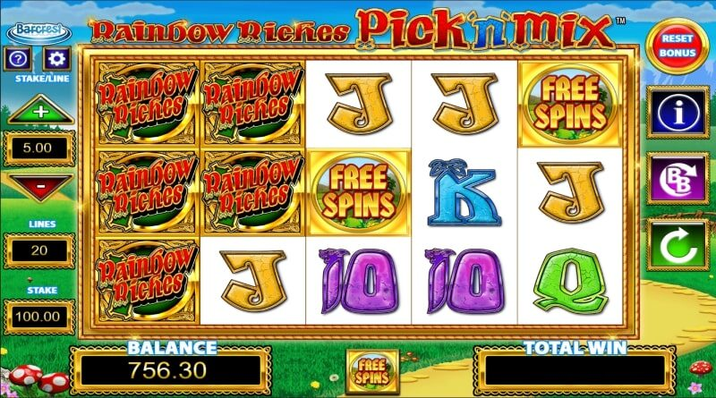 rainbow riches pick n mix slot