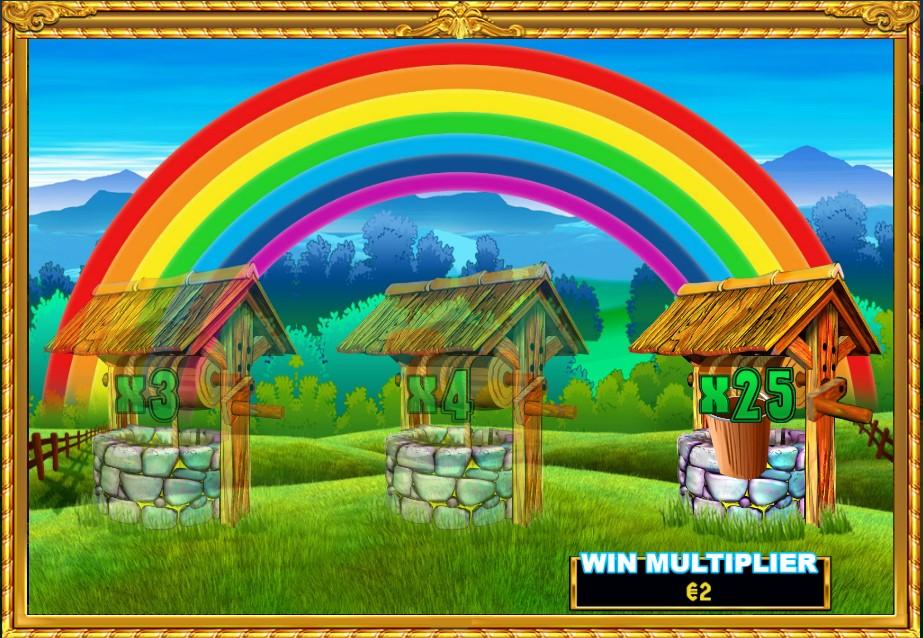 rainbow riches slingo wishing well bonus