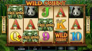 wild orient slot free spins